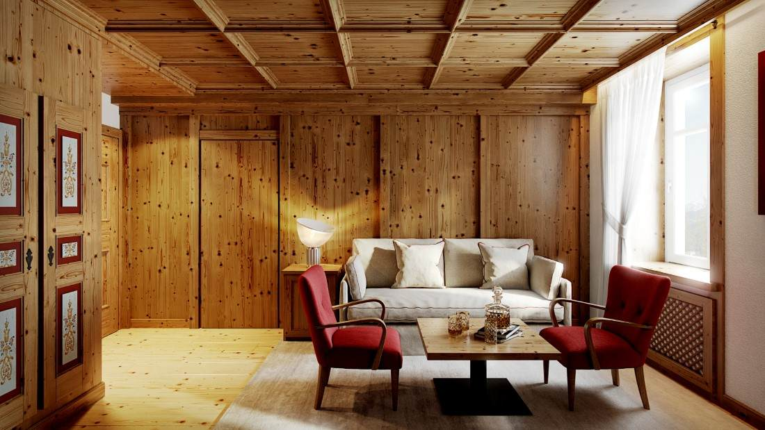 Hotel Cortina Wellness Suite - living room (A scelta)